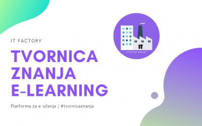 Tvornica Znanja – digitalna platforma za e-učenje