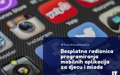 Besplatna radionica programiranja mobilnih aplikacija za djecu i mlade